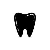 Ząb bryły ikona Fotografia Stock
