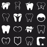 Ząb, ząb wektorowe ikony ustawiać Obraz Royalty Free