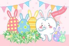 Ząb z szczęśliwym Easter royalty ilustracja