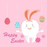 Ząb z szczęśliwym Easter ilustracji