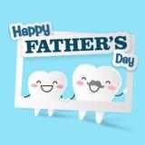 Ząb z szczęśliwym ojca dniem ilustracja wektor