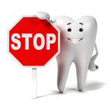 Zębu charakter ilustracji