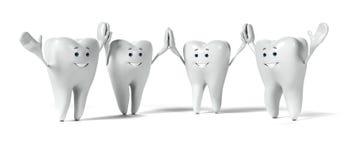 Zębu charakter royalty ilustracja