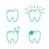 Zębu set Obrazy Stock