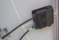 Złącza pudełko modułu ogniwo słoneczne Fotografia Royalty Free
