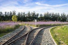 złącze linia kolejowa Zdjęcia Royalty Free