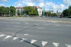 Złącze na Krolowej Jadwigi ulicie w Poznańskim, Polska Zdjęcie Royalty Free