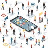 Złączeni ludzie i ogólnospołeczni środki ilustracji