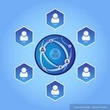 Złączeni ludzie - sieci pojęcie Obrazy Royalty Free