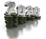 Zła Argentyna gospodarka 2020 royalty ilustracja