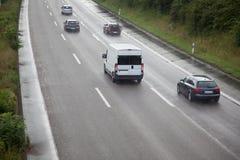 Zła autostrady widoczność zdjęcie royalty free