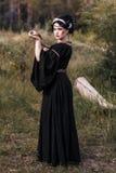 Zła czarownicy kobieta zdjęcie stock