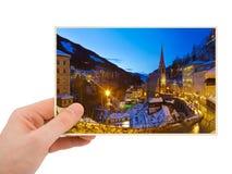 Zła Gastein Austria fotografia w ręce Obrazy Stock