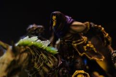 Zła jeźdza czarnego charakteru figurka Fotografia Royalty Free
