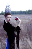 Zła królowa z jabłkiem Zdjęcia Stock