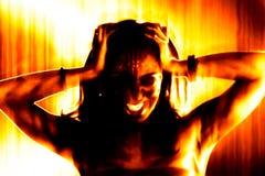zła ognista kobieta ilustracja wektor