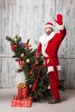 Zła Santa klauzula obrazy stock