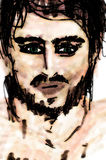 Zła Wiadomość portret mężczyzna Obrazy Royalty Free