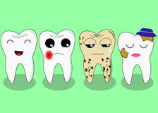 Zła ząb firma Problemayczna choroba i niezdrowy zębu pojęcie postać z kreskówki śmieszni również zwrócić corel ilustracji wektora ilustracja wektor