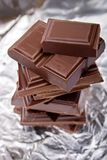 złamana czekolady Fotografia Royalty Free