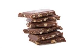 złamana czekolady występować samodzielnie Fotografia Royalty Free