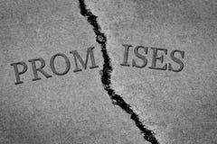 Złamane Obietnicy i naruszająca zgoda obraz stock