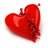 złamane serce ilustracji