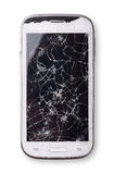 złamany smartphone Obrazy Stock