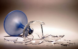 złamany szkło wina obraz stock