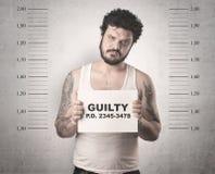 Złapany gangster w więzieniu fotografia royalty free