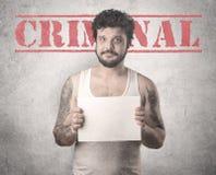 Złapany gangster w więzieniu zdjęcie stock
