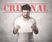 Złapany gangster w więzieniu obraz royalty free