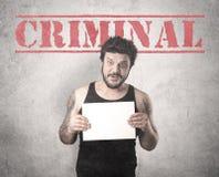 Złapany gangster w więzieniu zdjęcia royalty free