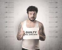 Złapany gangster w więzieniu obrazy stock