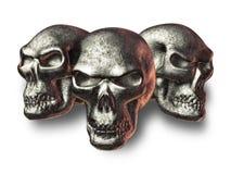 złe wymyślnych czaszki Zdjęcia Royalty Free