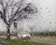 Złej pogody jeżdżenie na sposobie fotografia royalty free