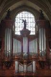 złości katedry zakończenie organowy piszczy organowy zdjęcia royalty free
