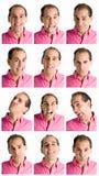 złożona wyrażeń twarz odizolowywający mężczyzna biel Zdjęcie Stock