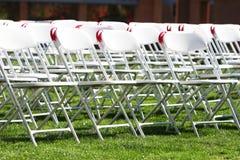 złożone krzesła Obraz Royalty Free