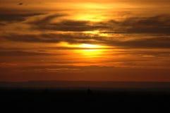 złożone przez zachodem słońca Zdjęcia Royalty Free