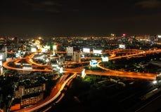 Złożoność wysoki sposób w Bangkok mieście, Tajlandia Zdjęcie Royalty Free