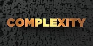 Złożoność - Złocisty tekst na czarnym tle - 3D odpłacający się królewskość bezpłatny akcyjny obrazek royalty ilustracja