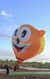 Złożony gorące powietrze balony przy Ninh Thuan balonu festiwalem Zdjęcie Stock