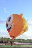 Złożony gorące powietrze balony przy Ninh Thuan balonu festiwalem Zdjęcia Stock