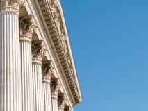 Złożony rozkaz grka stylu kolumny Zdjęcie Stock