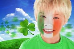 Złożony wizerunek śliczna irlandzka chłopiec Fotografia Royalty Free