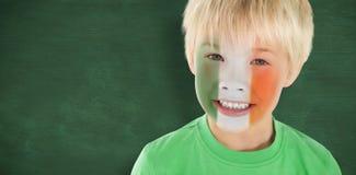 Złożony wizerunek śliczna irlandzka chłopiec Fotografia Stock