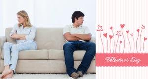 Złożony wizerunek śliczna valentines para Obraz Royalty Free