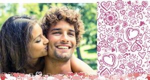 Złożony wizerunek śliczna valentines para royalty ilustracja
