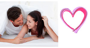 Złożony wizerunek śliczna valentines para Obraz Stock